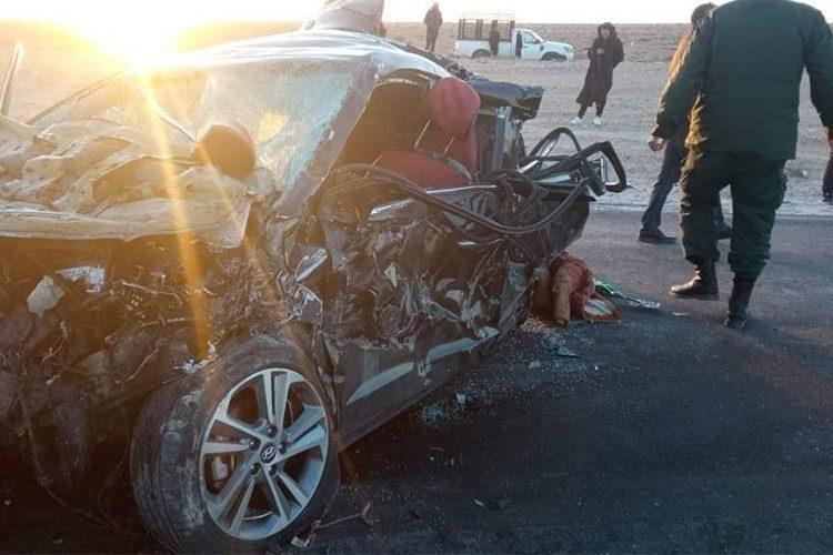 بالصور.. 8 قتلى في حادث مرور بالوادي