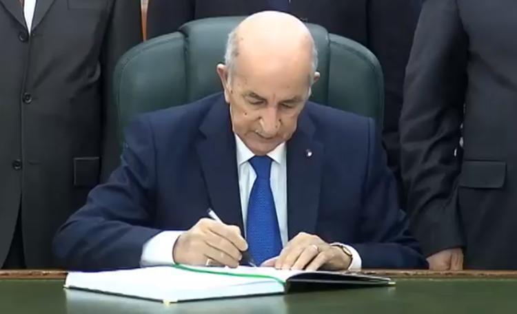الرئيس تبون يوقع مرسوم حل المجلس الشعبي الوطني
