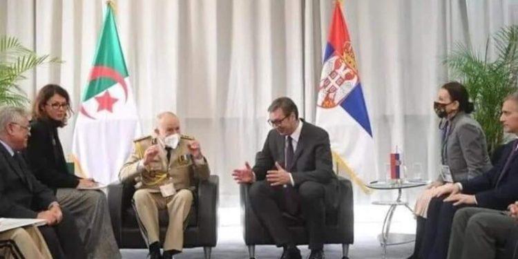 الرئيس الصربي يستقبل الفريق السعيد شنڤريحة