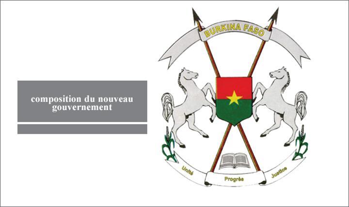 Burkina : Voici la composition du nouveau gouvernement