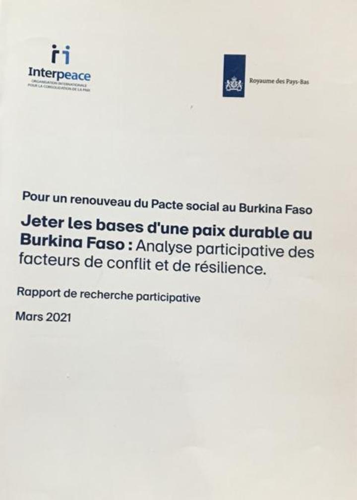 Conflits et résilience au Burkina : Interpeace apporte une analyse participative par un rapport
