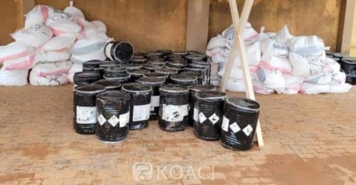 Burkina Faso : 11,5 tonnes de cyanure saisies par la douane