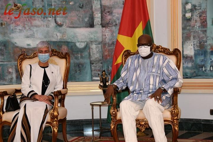 Système des nations unies au Burkina : La coordonnatrice Barbara Manzi chez Roch Kaboré