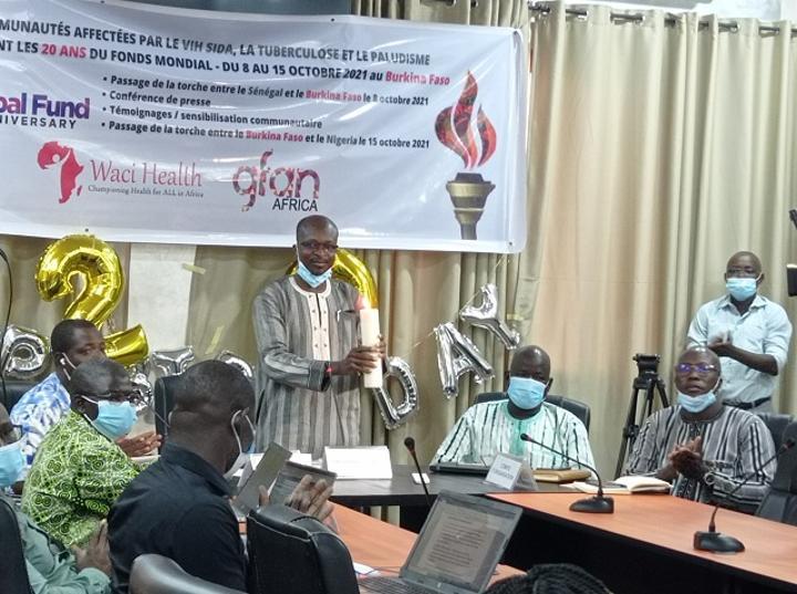 20 ans du Fonds mondial : Le flambeau remis au Burkina pour la commémoration