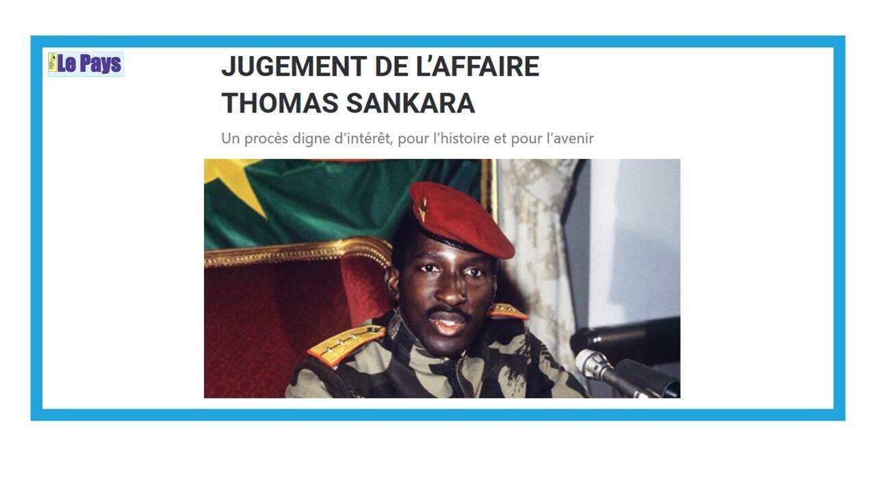 Procès des assassins de Thomas Sankara :