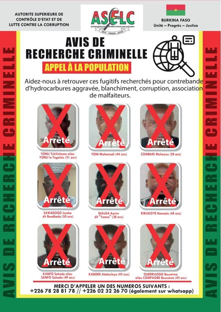 Contrebande de carburant : Tous les fugitifs mis aux arrêts