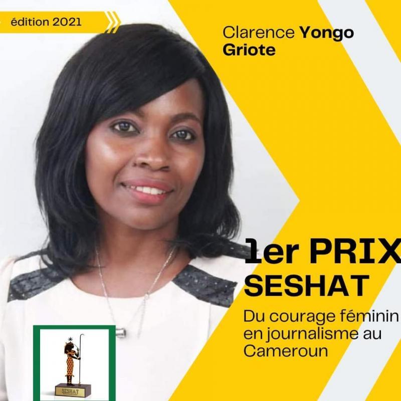 Cameroun – Concours : Clarence Yongo remporte la première édition du « prix SESHAT du courage féminin dans le journalisme Camerounais »