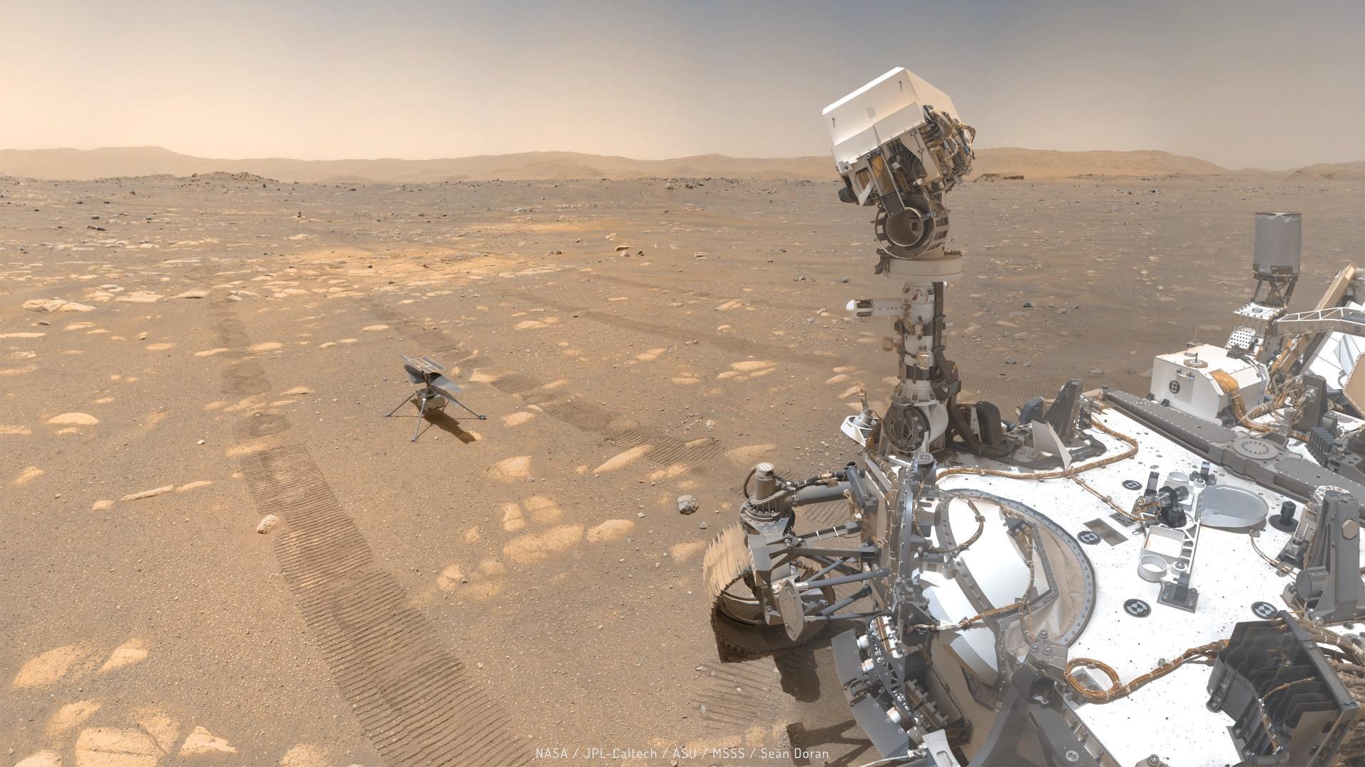 Le robot Perseverance collecte le premier échantillon de roche sur Mars