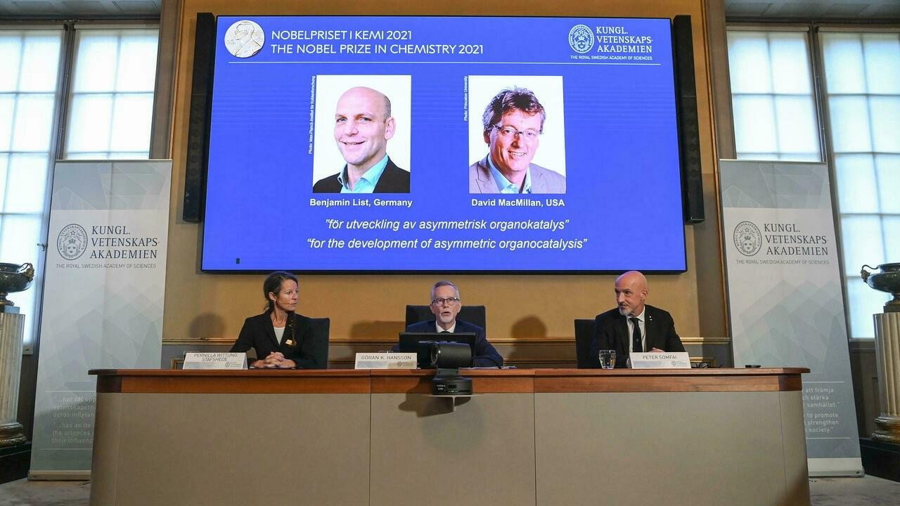 Le prix Nobel de chimie a été attribué à l'Allemand Benjamin List et l'Américain David MacMillan