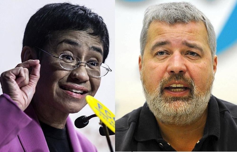 Le prix Nobel de la paix attribué aux journalistes Maria Ressa et Dimitri Muratov