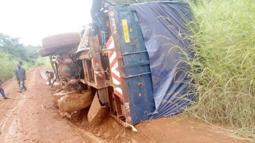 RCA: l'accident d'un camion commercial fait 4 morts à Grimari