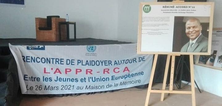 RCA: Un moment de plaidoyer entre l'ONG URU et les jeunes leaders