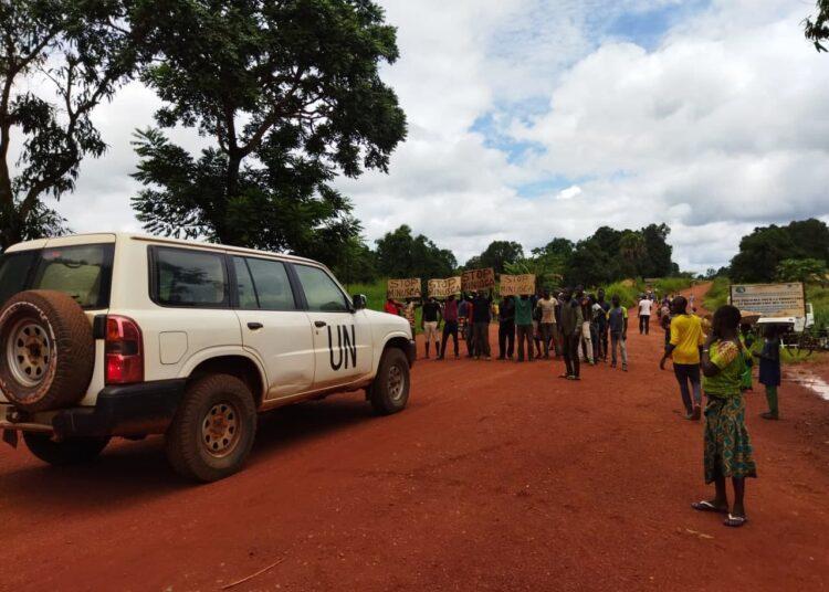 Encore une action Stop MINUSCA a eu lieu à Bambari