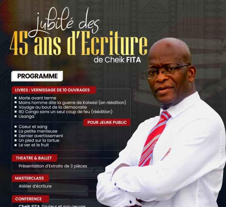 Littérature : un coffret de 10 livres de l'écrivain congolais Cheik Fita sera publié le 27 mars à Kinshasa