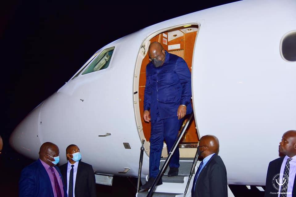 Félix Tshisekedi a regagné Kinshasa mercredi après un séjour de travail au Qatar