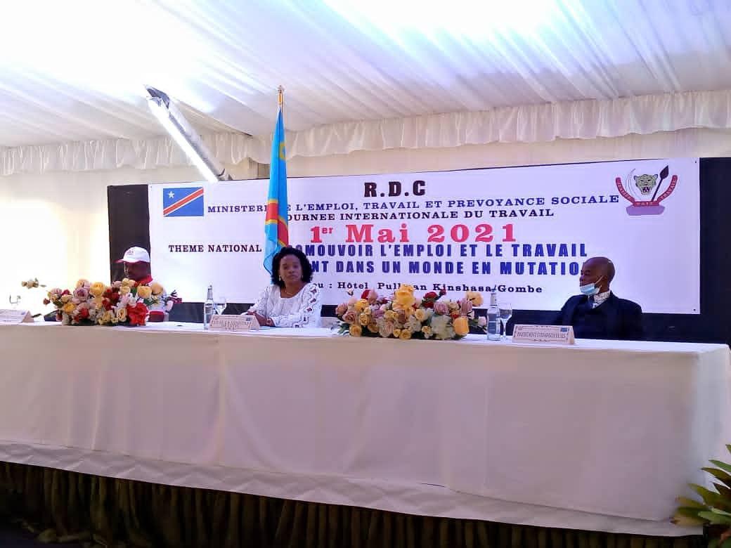 Fête du travail : le gouvernement congolais appelé à honorer les différents accords signés avec les syndicats et à généraliser la sécurité sociale pour tous les agents et fonctionnaires de l'État