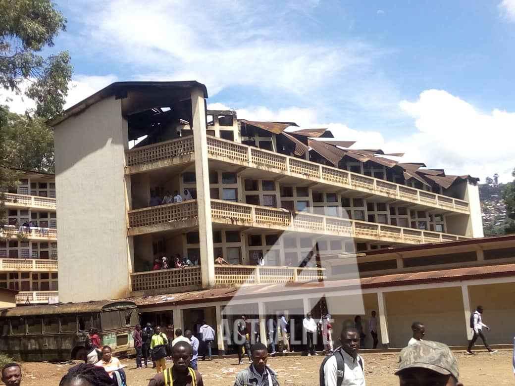 plus de 280 étudiants sans abris après l'incendie de l'ISP Bukavu
