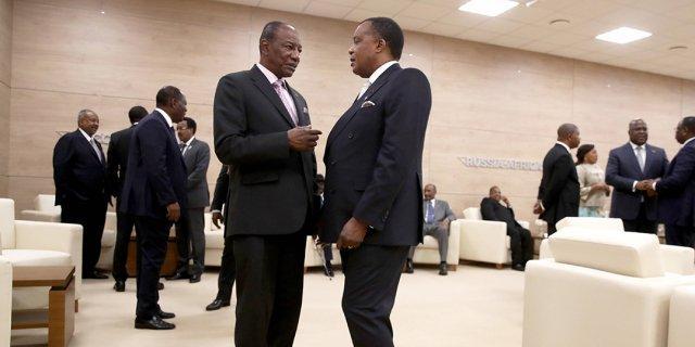 Denis Sassou Nguesso, médiateur entre Alpha Condé et Umaro Sissoco Embaló