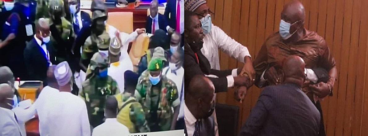 Cafouillage à Accra: Des militaires font irruption à l'Assemblée nationale, des urnes cassées, des bulletins déchirés