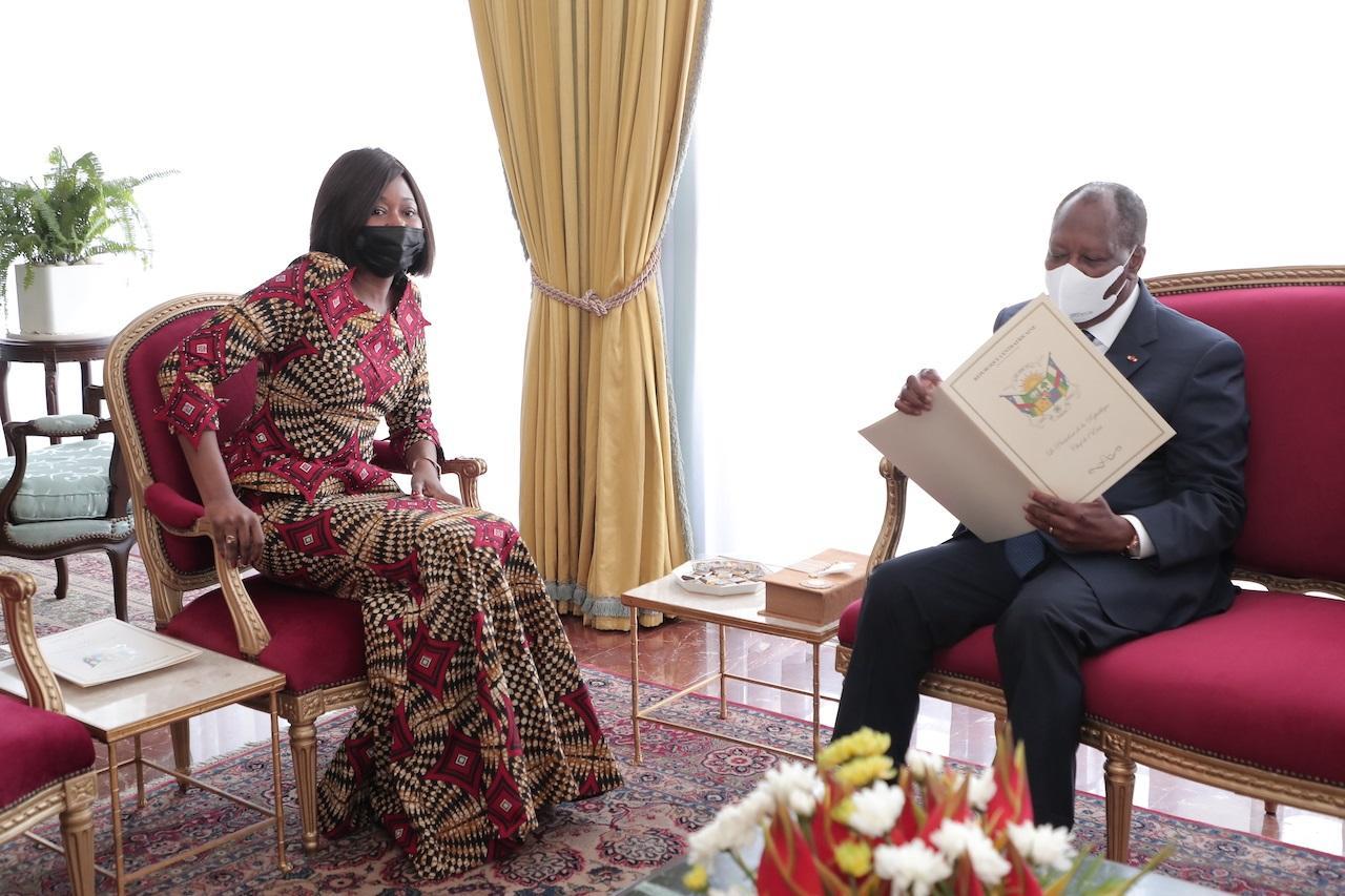 Le Chef de l'Etat a échangé avec la Ministre Centrafricaine des Affaires Etrangères