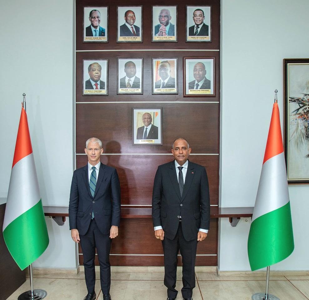 La Côte-d'Ivoire et la France annoncent vouloir renforcer leur relation commerciale (Achi/Riester)