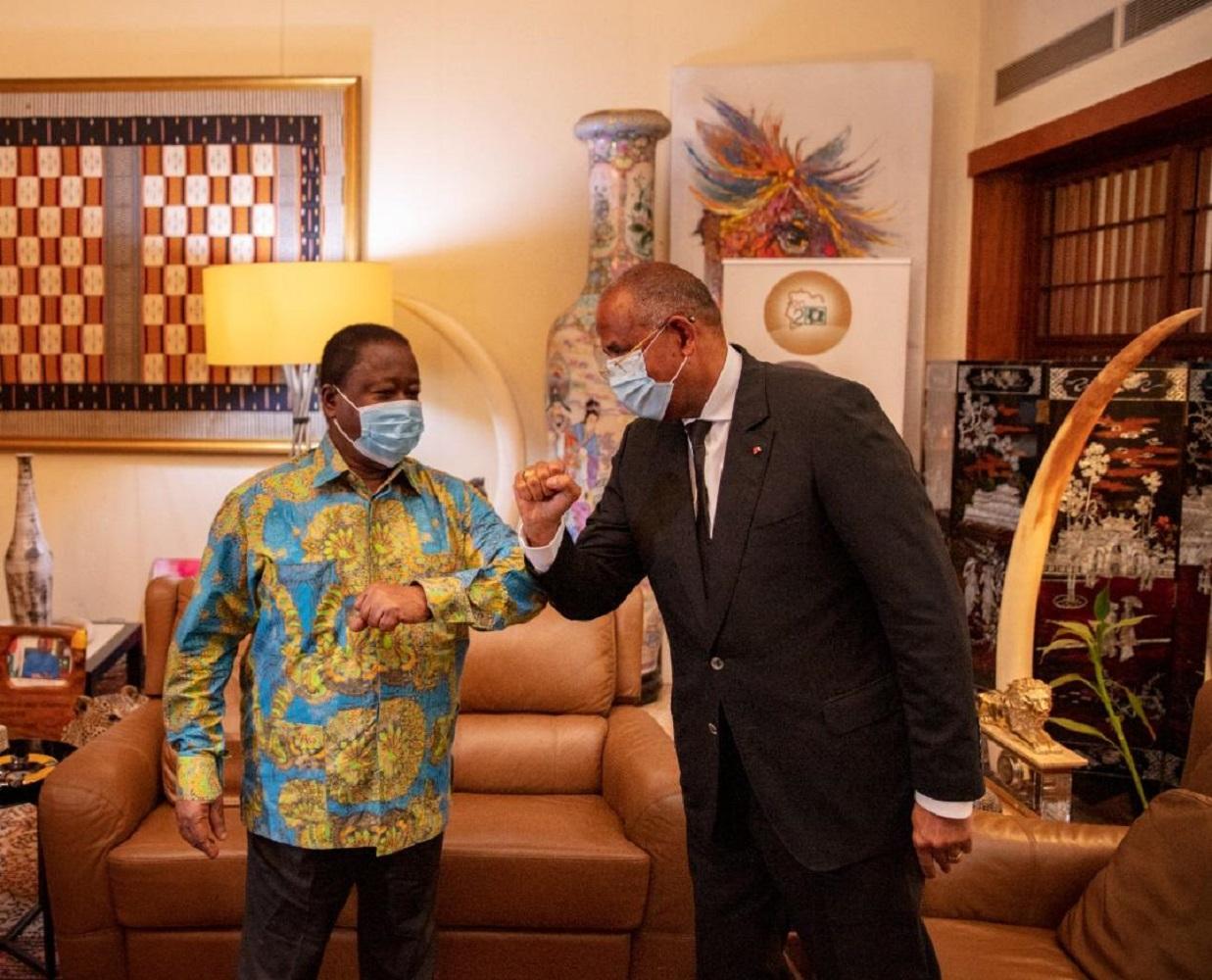 Daoukro/Côte-d'Ivoire: Endeuillé, Bédié reçoit les salutations fraternelles de Ouattara et les condoléances de Patrick Achi