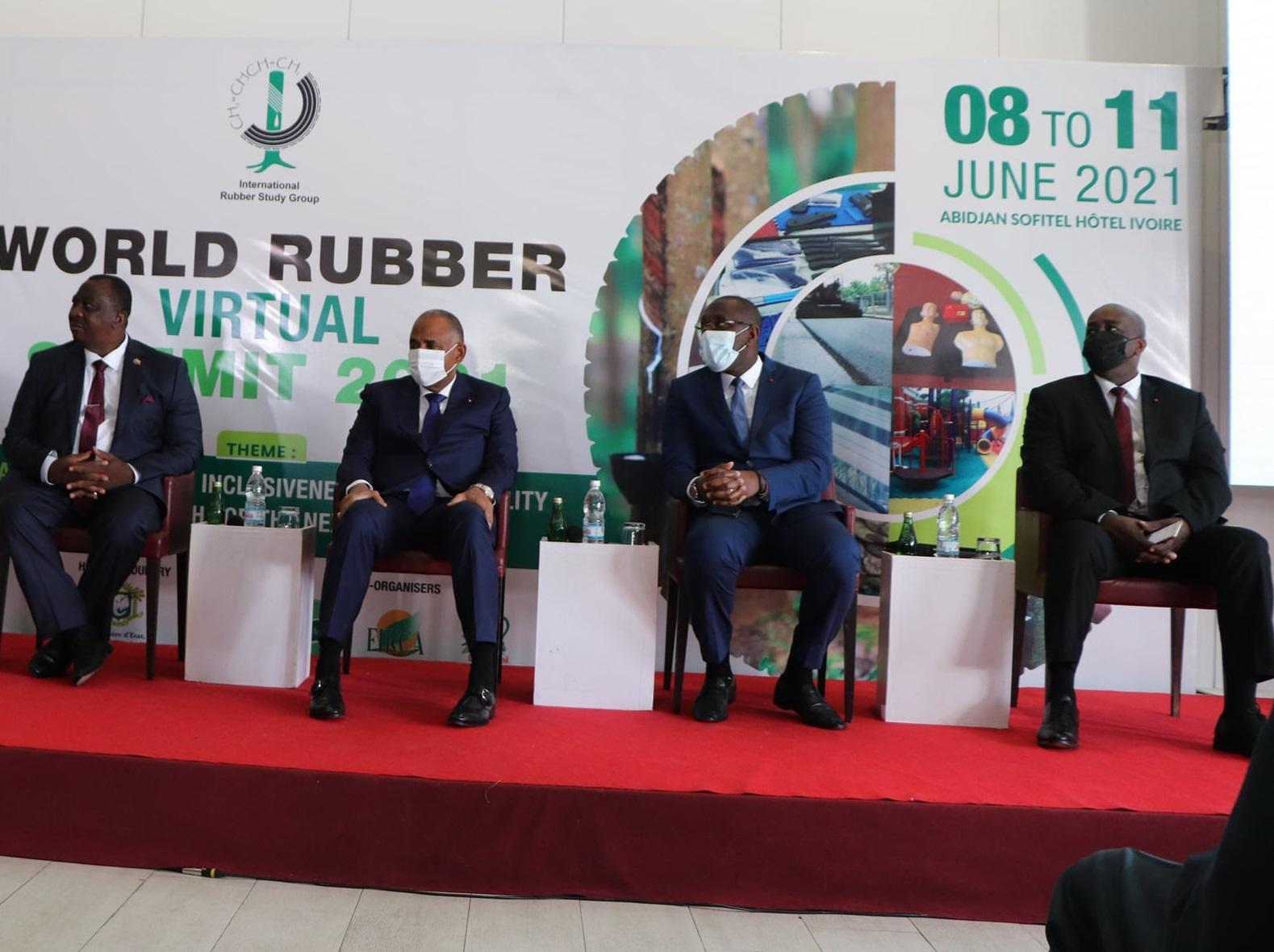 Allocution de SEM Aly Touré 11e édition du Sommet mondial sur le caoutchouc à Abidjan (Côte d'Ivoire)