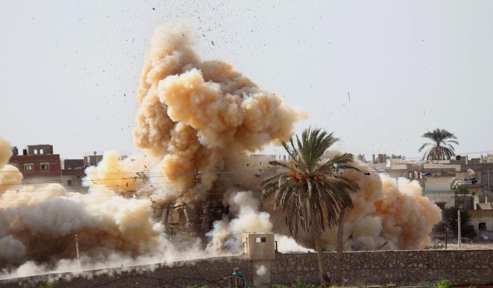 قصف جوي بطائرات مجهولة على شمال سيناء