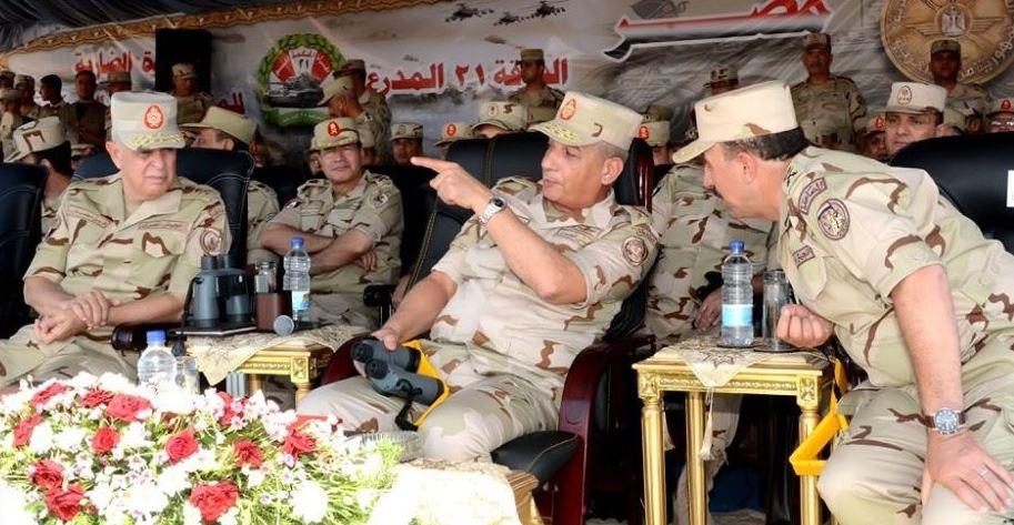 وزير الدفاع المصري الفريق أول محمد زكي مناورة رعد 31