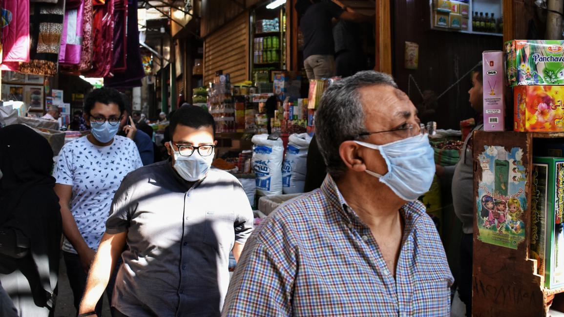 انخفاض المعدل اليومي لحالات الإصابة بفيروس كورونا في مصر
