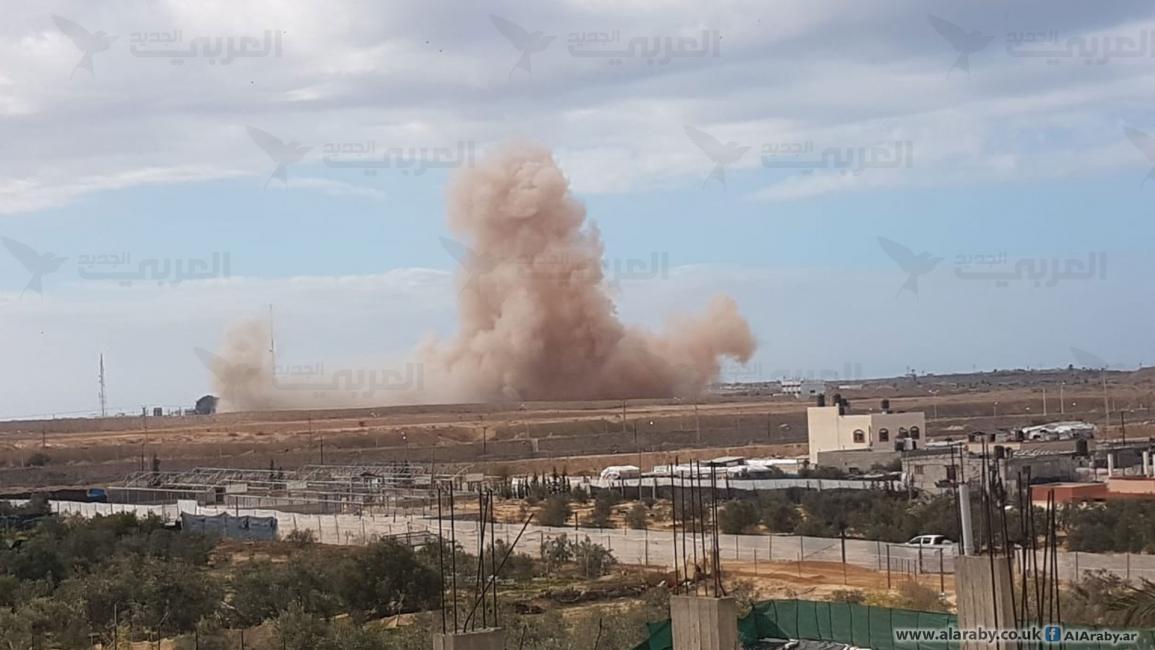 تواصل القصف الجوي والمدفعي المصري على مدينة رفح بسيناء