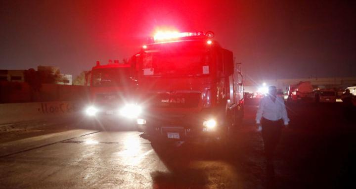 حريق هائل في سوق بالقرب من رمسيس بالقاهرة.. فيديو