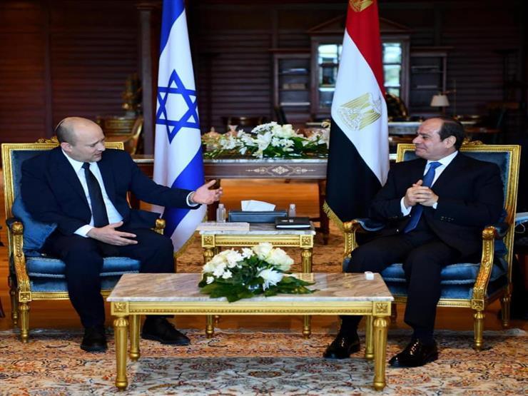متحدث الرئاسة ينشر صور استقبال الرئيس السيسي لرئيس وزراء إسرائيل