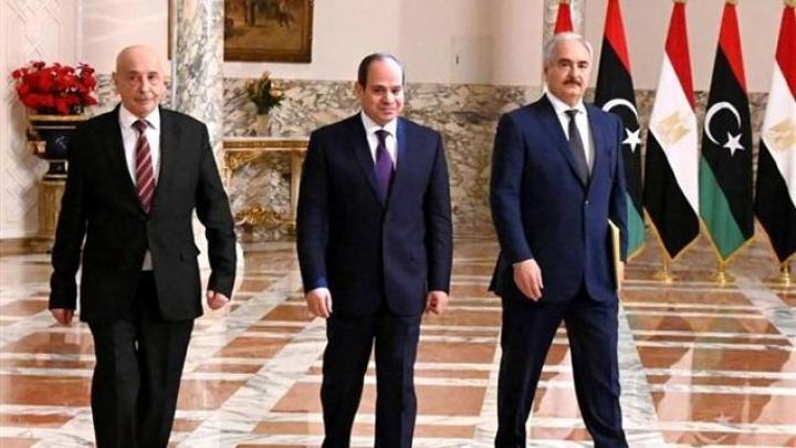 السيسي يستقبل عقيلة صالح وخليفة حفتر في القاهرة