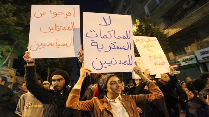 منظمة حقوقية: محاكم مصر الاستثنائية انتهاك للدستور والمواثيق