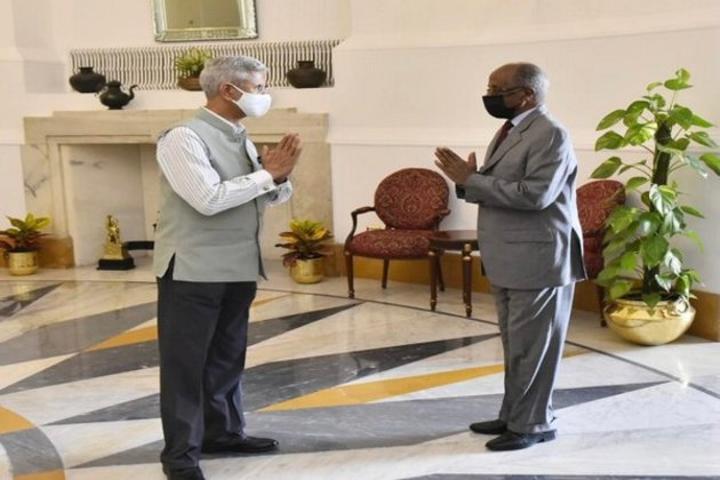 S Jaishankar meets Eritrea EAM Osman Saleh Mohammed