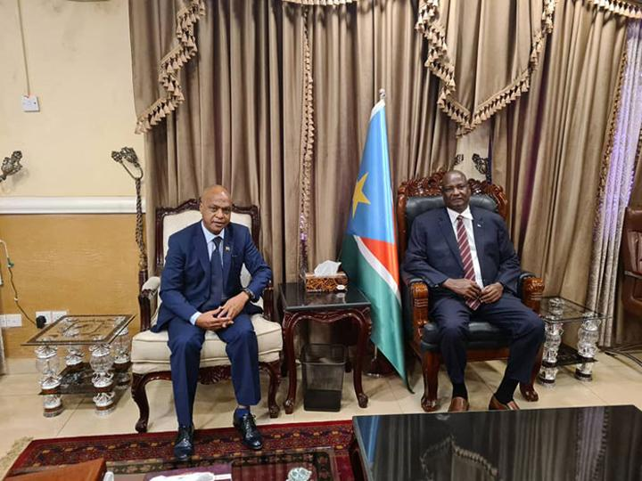 Meeting of Ambassador Yohannes with South Sudan officials