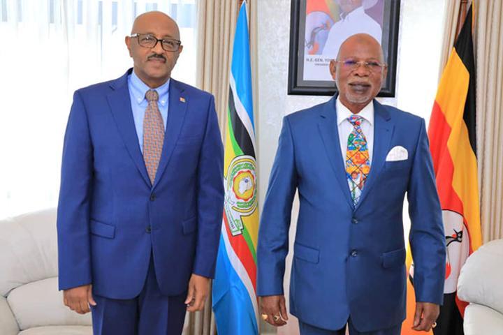 Ambassador Mohammed Suleiman held talks with Ugandan FM