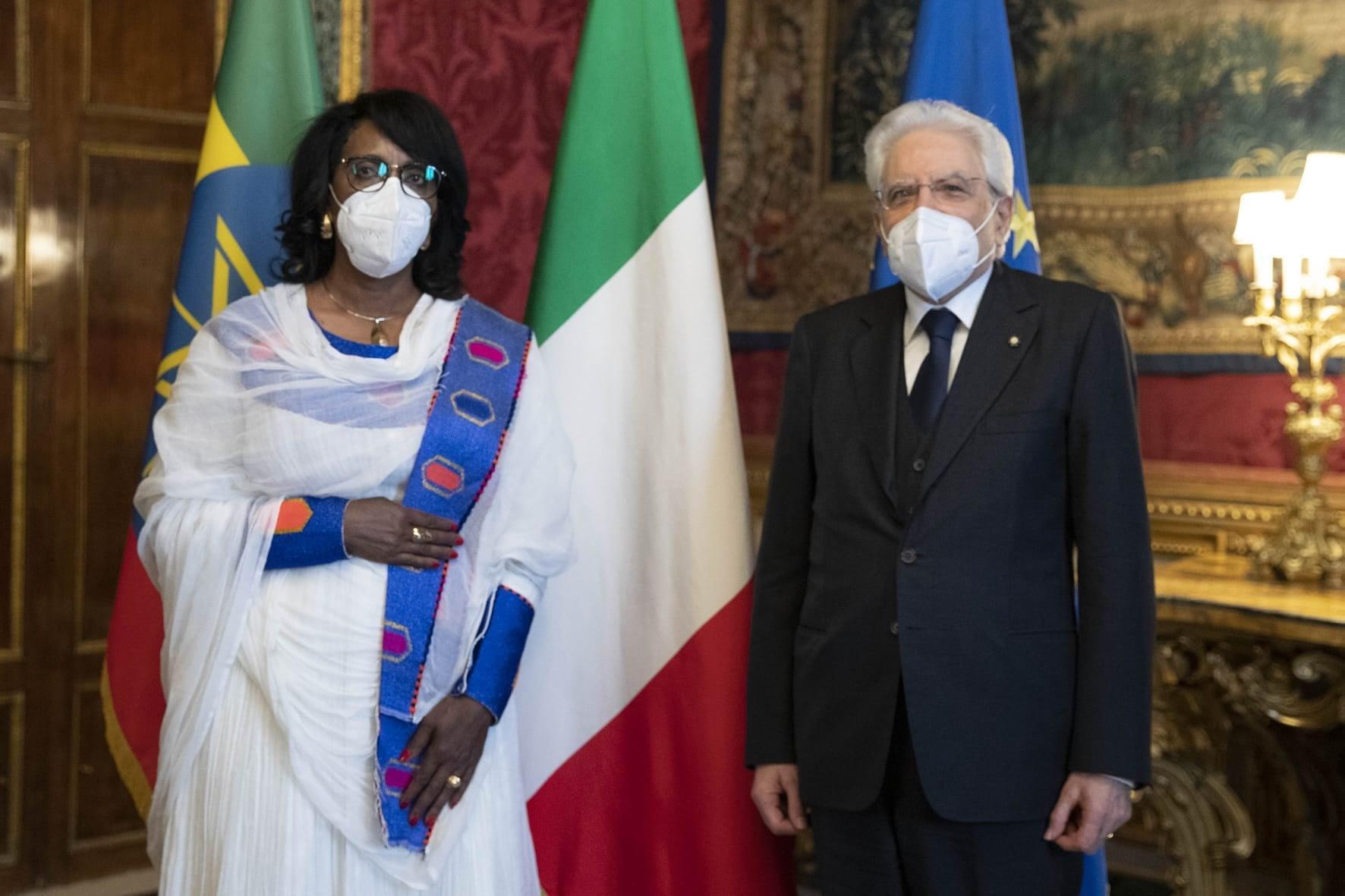 Ambassador Demitu Presents letter of Credence to Italian President