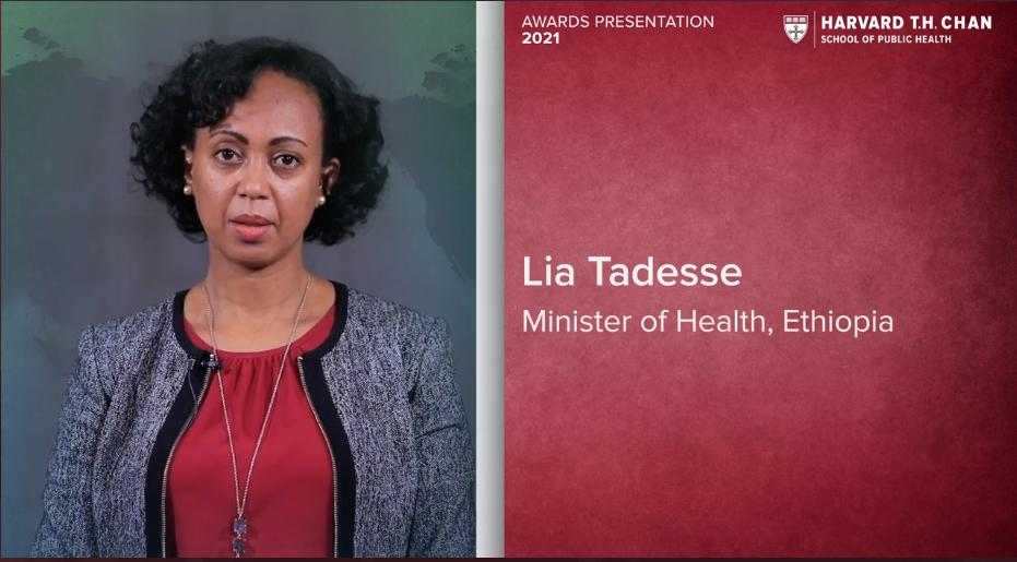 Dr. Lia Tadesse Wins Next Generation Award of Harvard School