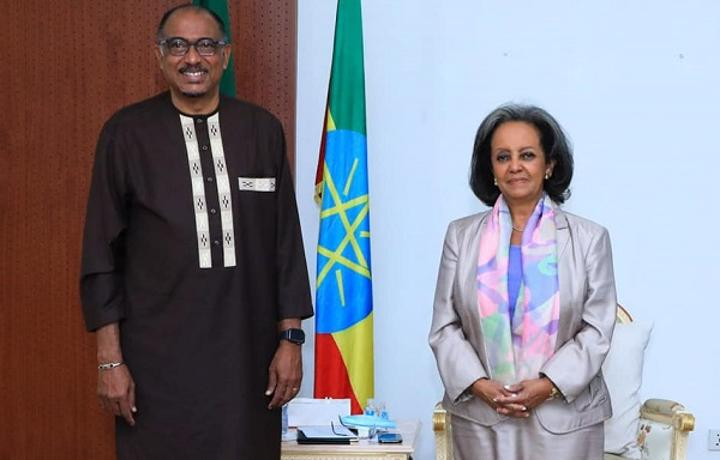 President Sahle-Work Hold Talks with AU Special Envoy for African Medicines Agency (AMA)