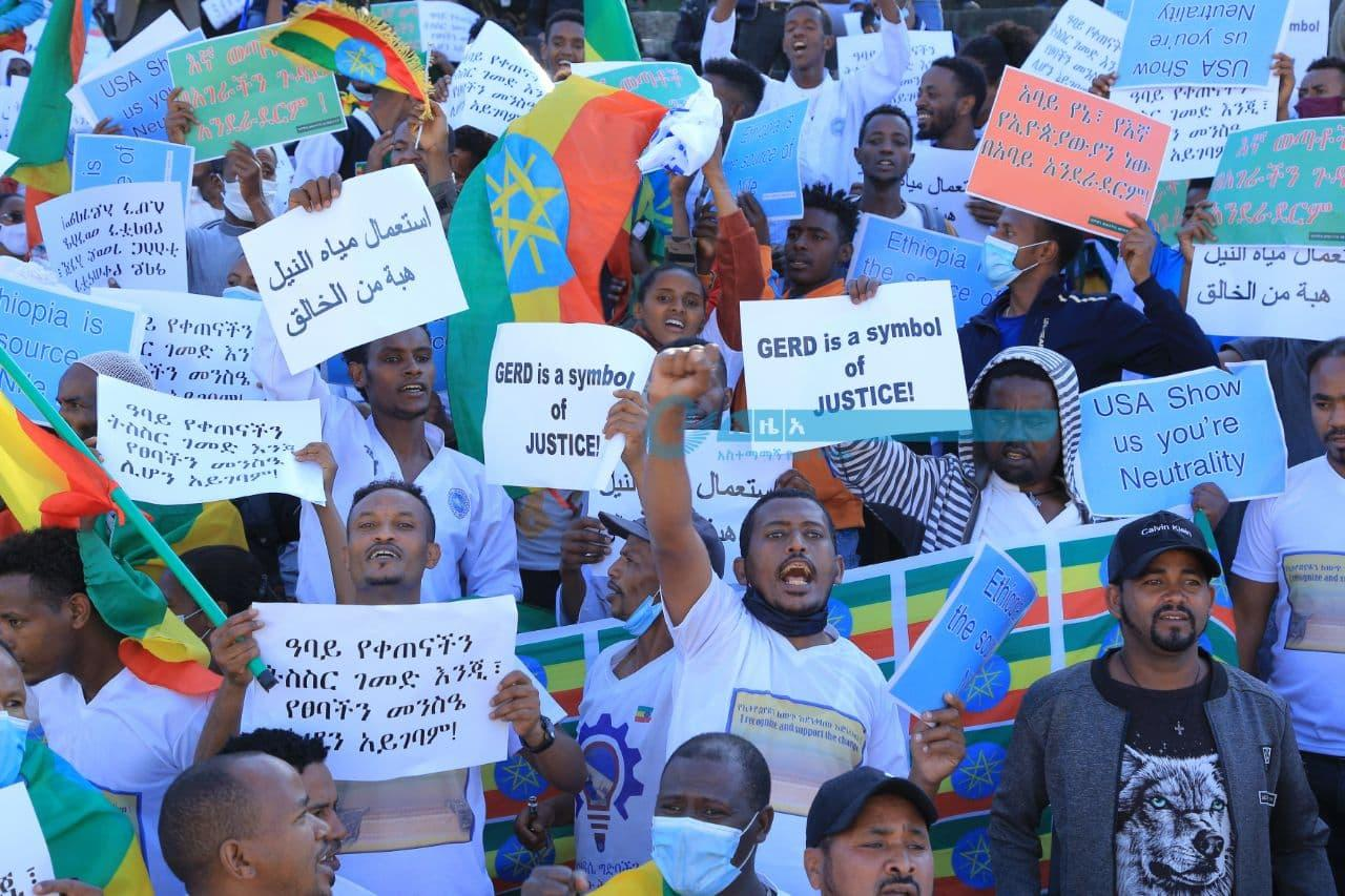 Thousands Take Part in Anti-foreign Interference Rally Held in Addis Ababa