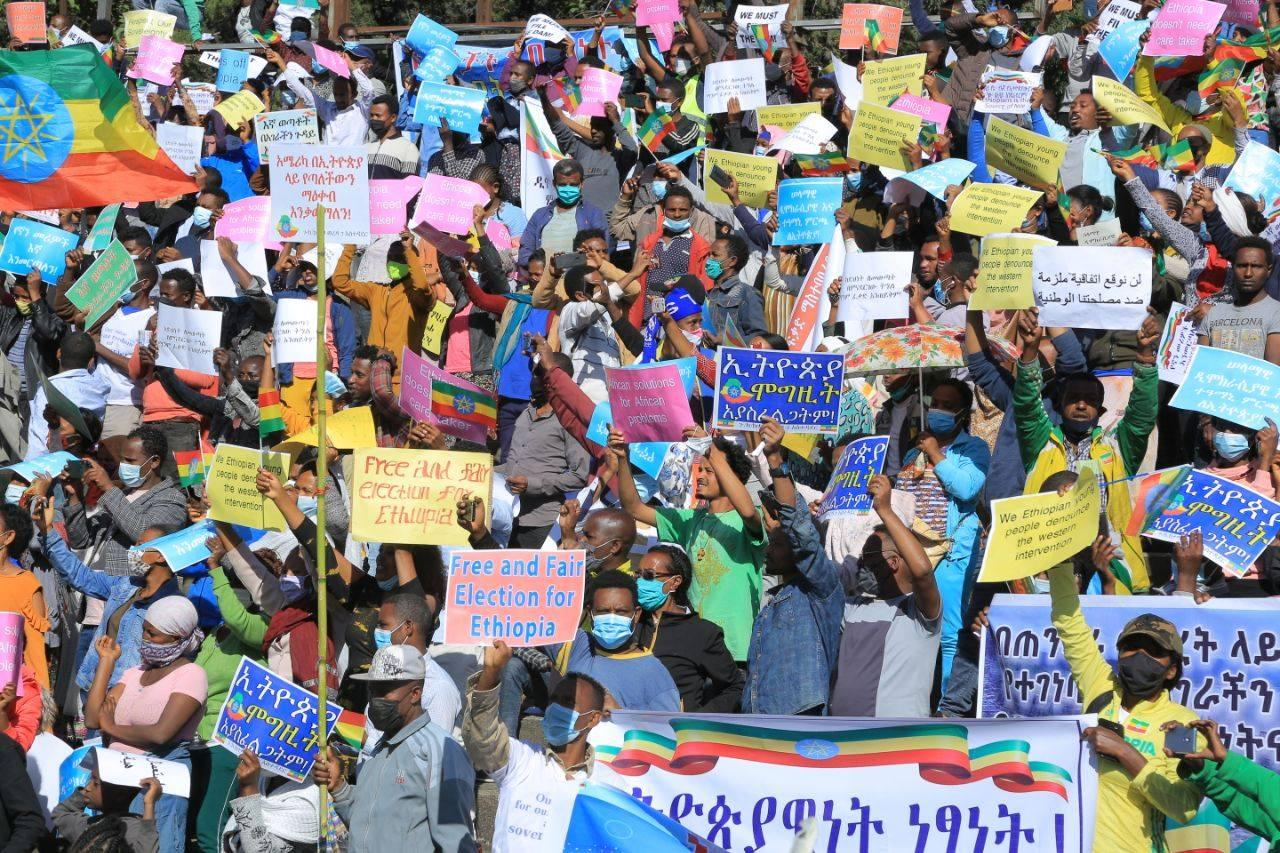 Ethiopians Staging Nationwide Protests against Foreign Meddlesome