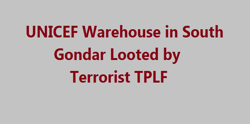 UNICEF Warehouse in South Gondar Looted by Terrorist TPLF