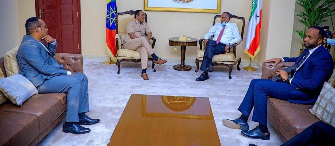Foreign Affairs State Minister, Somaliland President Hold Talks