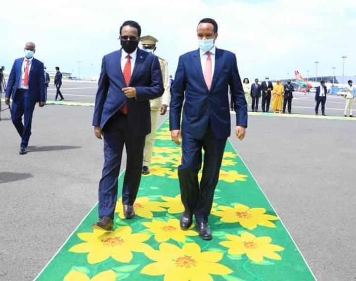 President of Somalia Arrives in Addis Ababa