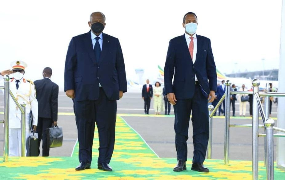 President of Djibouti Arrives in Addis Ababa