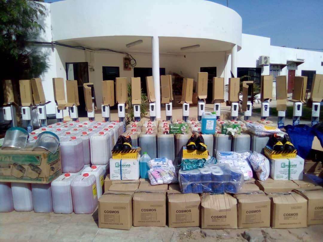 NEA, UNDP present covid-19 materials to municipalities