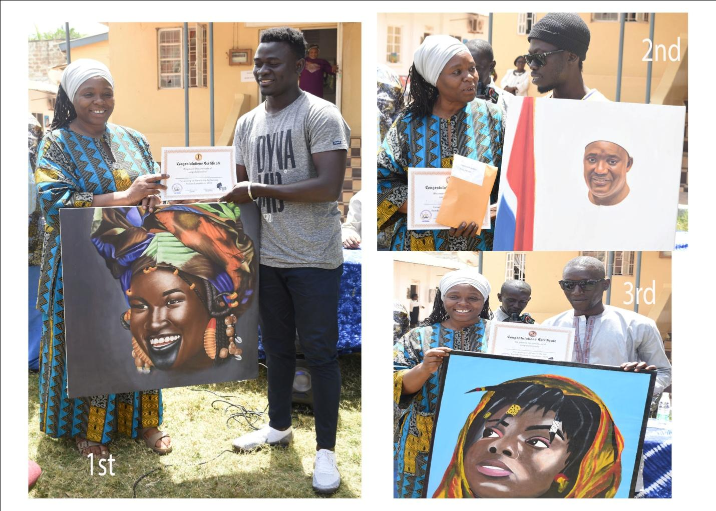 NCAC, Daughters of Africa award winners of Art Bantaba Competition