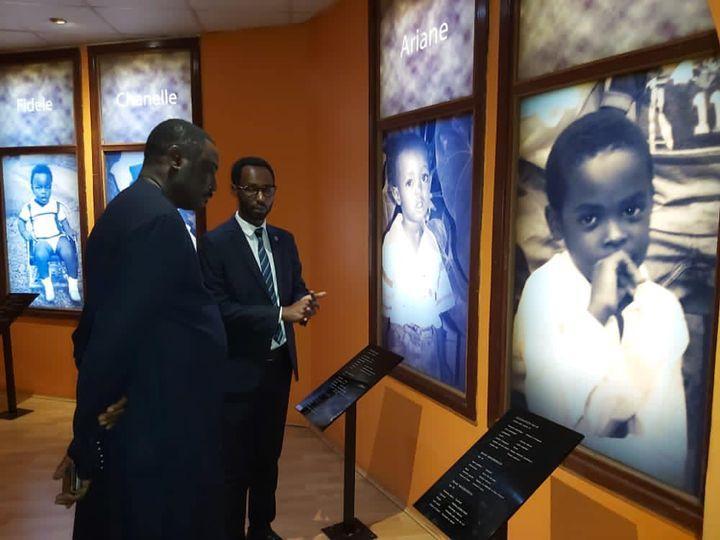 Dr Tangara visits Kigali Genocide memorial